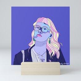 Cute pastel girl Mini Art Print