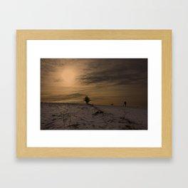 Winter Walk Framed Art Print