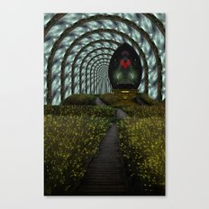 Keep your heart in a happy place Canvas Print