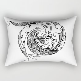 Creation in Black Rectangular Pillow