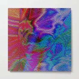 Abstract oil effect Metal Print