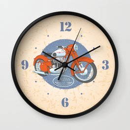 Retro bike JAWA Wall Clock