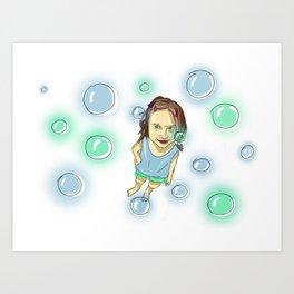 Feeling like Soap Bobbles in the air Art Print