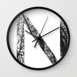 Minimal Letter N Print With Photography Background Wall Clock
