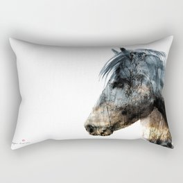Horse (Into the wild) Rectangular Pillow