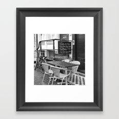 Lunch Under The Rain - Amsterdam Framed Art Print