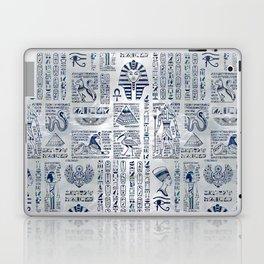 Egyptian hieroglyphs and deities abalone on pearl Laptop & iPad Skin