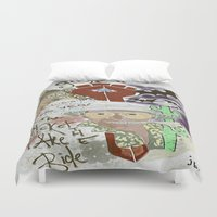 fear and loathing Duvet Covers featuring Fear and Loathing Print by Just Bailey Designs .com