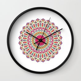 Ethno Flower No7 Wall Clock