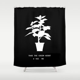 Green Herb Shower Curtain