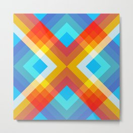 Abstract Retro Pattern 10 Metal Print