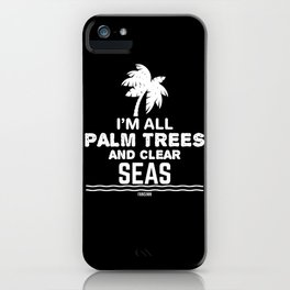 Summer Palm Tree Sea holiday island iPhone Case