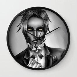 Monochrome Claude Faustus Wall Clock
