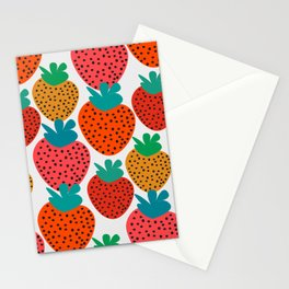 Funny strawberries Stationery Cards