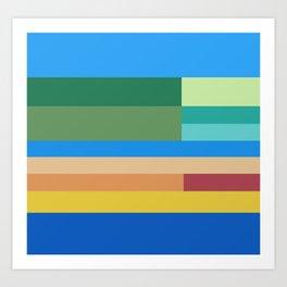Color Stripes II Art Print