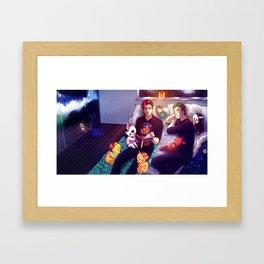 Bedtime Stories with Markiplier, Jacksepticeye and FNAF Framed Art Print