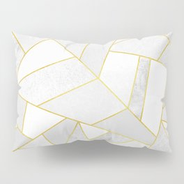 White Stone Pillow Sham