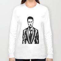 tyler durden Long Sleeve T-shirts featuring Tyler Durden by Shahbab