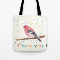 creativity Tote Bags featuring Creativity by Tammy Kushnir