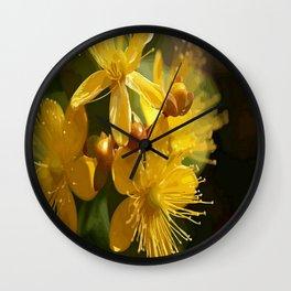 Turkish St Johns Wort Wild Flower Vector Image Wall Clock