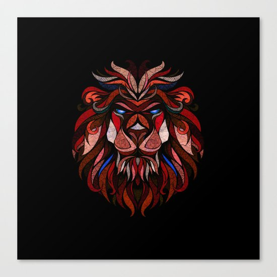 Red Lion Canvas Print