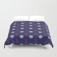 nautical Duvet Covers featuring Nautical by anertek