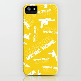 Chewie We're Home Pattern iPhone Case
