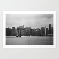 Manhattan from Brooklyn Art Print