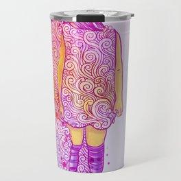 Flame doodle Travel Mug