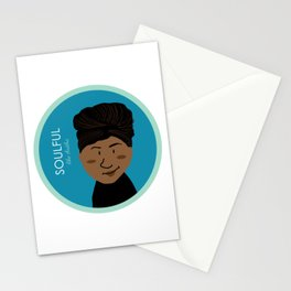 Soulful like Aretha Franklin Stationery Cards
