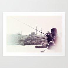 GALATA BRIDGE Art Print