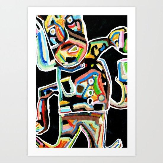 zé Carvalho (2009) Art Print