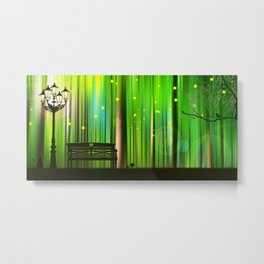 Spring In The Magic Forest Metal Print