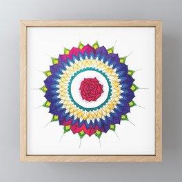 Rose Mandala Framed Mini Art Print