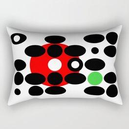 Circles and Eggs Rectangular Pillow