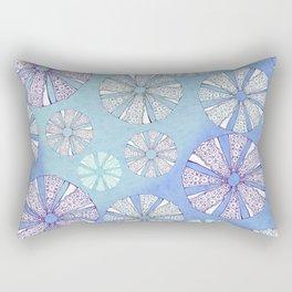 sea urchin blue watercolor Rectangular Pillow