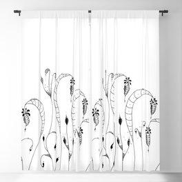 Cocoon Garden Doodle Art Blackout Curtain