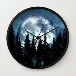 Full Moon II Wall Clock