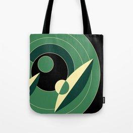 Retro Deco Green Tote Bag