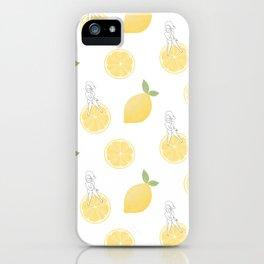 Lemon Girl Pattern iPhone Case