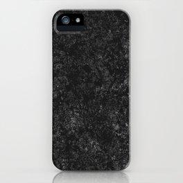 Black Marble texture iPhone Case