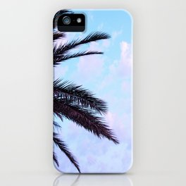 Palm Leaves Pastel Clouds #1 #decor #art #society6 iPhone Case