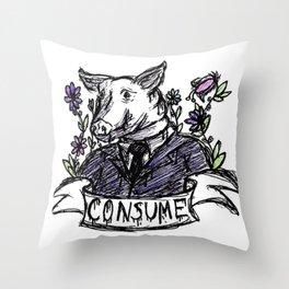 Consume Throw Pillow