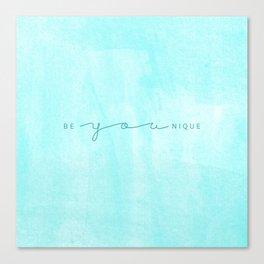 Be YOUnique Canvas Print