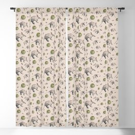 Aardvarks, Apples and Ants Pattern Blackout Curtain