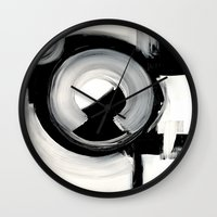 clockwork Wall Clocks featuring CLOCKWORK  by Linnea Heide