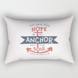"""Anchor for the Soul"" Hand-lettered Bible Verse Rectangular Pillow"