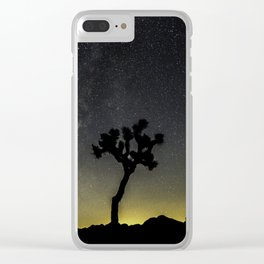 Milky Way at Joshua Tree Clear iPhone Case