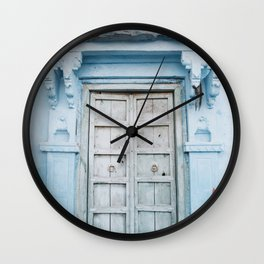 Blue Door in the Blue City Jodhpur in Rajasthan, India | Travel Photography | Wall Clock
