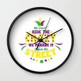 Carnival Costume Mardi Gras New Orleans Wall Clock